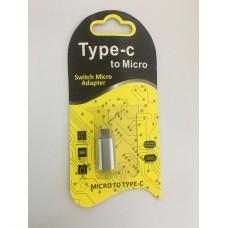 Adaptador Conversor Micro Usb Macho X Tipo C (type-c) Femea