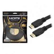 Cabo Hdmi Pix Flat Gold - 2.0 4k 3d Hdr 19p 10 Metros Xbox Ps4 - 018-5027