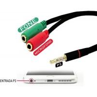 Adaptador P3 (p2 Combo) P/ Fone E Microfone Ou Headset