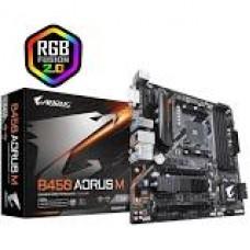 Placa Gigabyte B450 AORUS M (AM4/DDR4/Micro-ATX/HDMI/DVI) - B450 AORUS - M