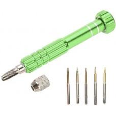 Chave Abertura Celular 5 Em 1 Pentalobe Torx verde
